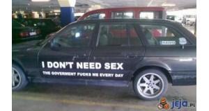 Nie potrzebuję seksu