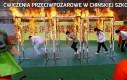Ćwiczenia przeciwpożarowe w chińskiej szkole