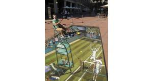 Iluzja na chodniku - tenis