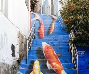 Schody w Seulu