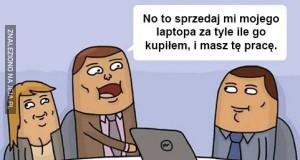 Sprzedaż laptopa