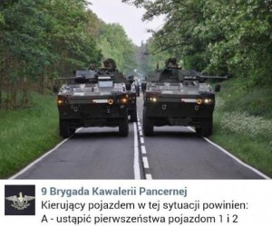 Standardowa sytuacja na polskich drogach