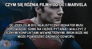Czym się różnią filmy od DC i Marvela