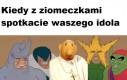 Można go spotkać w szkołach w całej Polsce