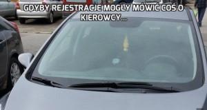 Gdyby rejestracje mogły mówić coś o kierowcy...