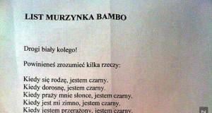 List od Murzynka Bambo