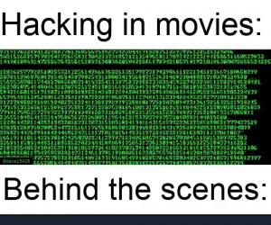 Hakowanie w rzeczywistości nie jest zbyt emocjonujące