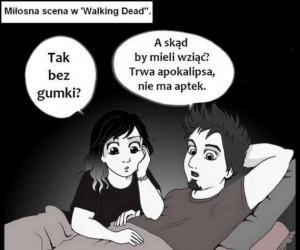 Miłosna scena w The Walking Dead