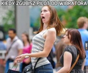 Kiedy zgubisz pilot od wibratora