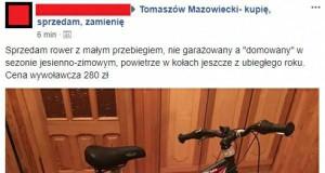 Sprzedał rower