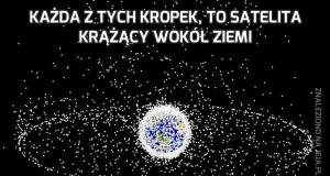 Każda z tych kropek, to satelita krążący wokół Ziemi