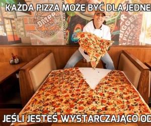 Każda pizza może być dla jednej osoby