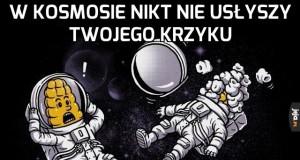 W kosmosie nikt nie usłyszy twojego krzyku