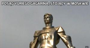 Posąg Yuriego Gagarina, stojący w Moskwie