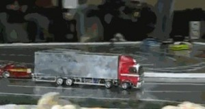 Ciężarówka mistrzem driftingu