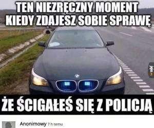 Wyścig z policją