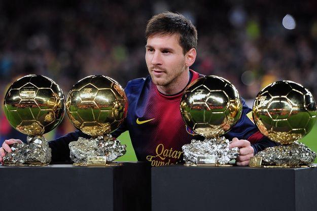 messi i jego cztery złote piłki