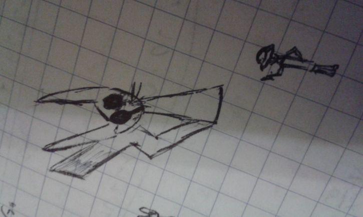 Pikachu rysowany moim stylem.