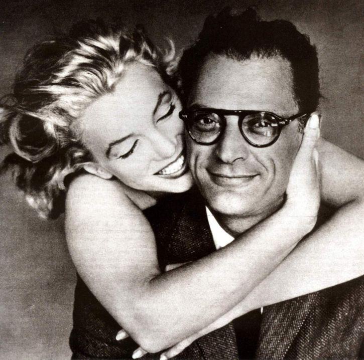 Marilyn razem z Arthure Millerem