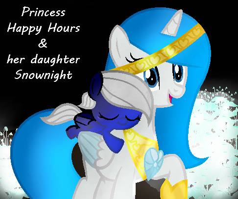 Princess Happy Hours & her daughter Snownight