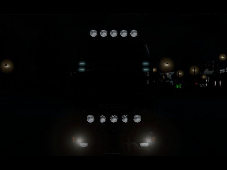 SCANIA r V8 Topline W nocy