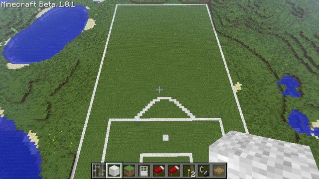 Boisko w Minecraft
