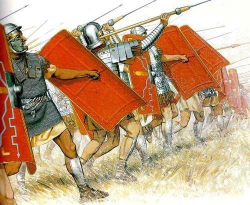 Legioniści w pierwszym natarciu.