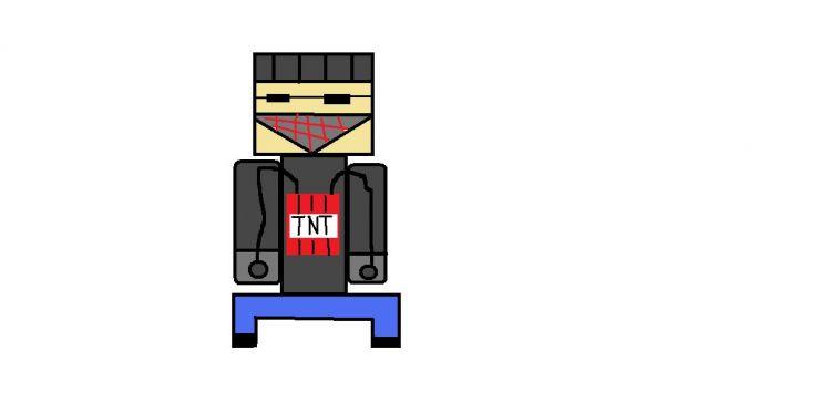 creeper z minecrafta wersja stworzona przeze mnie