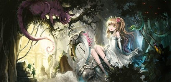 Cheshire cat & Alice