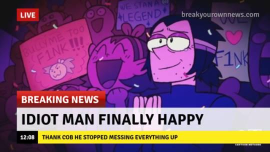 He happy