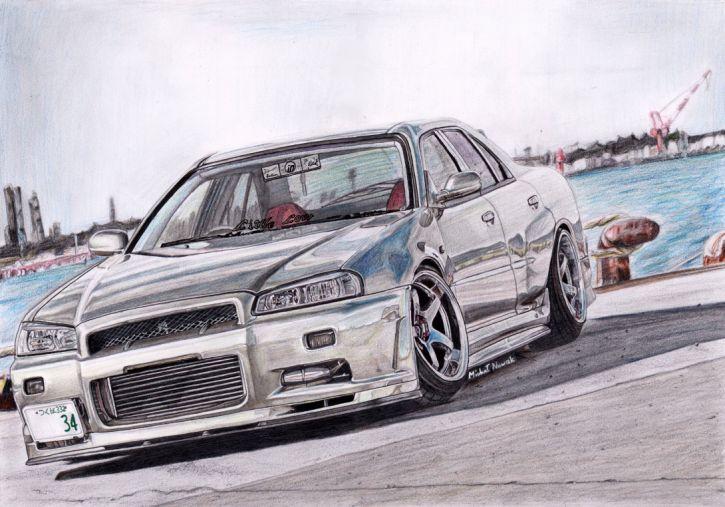 Nissan Skyline ER34 - rysunek