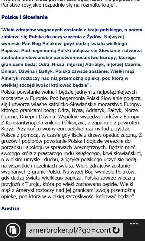 Taka tam przepowiednia dla Polski