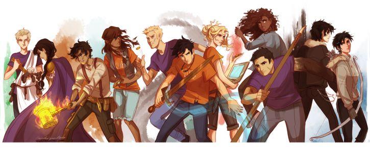 Heroes of Olympus by viria