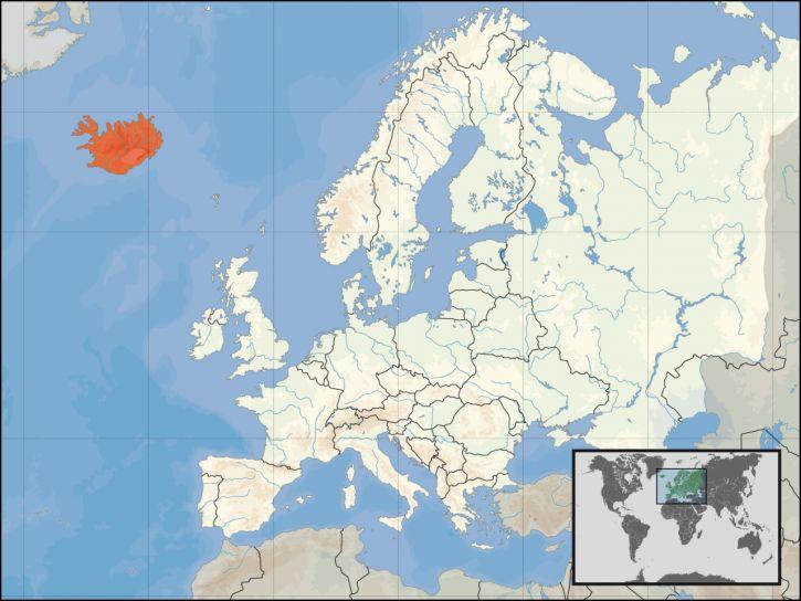 Położenie geograficzne Islandii