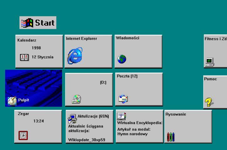 Windows 95/98 w wersji metro