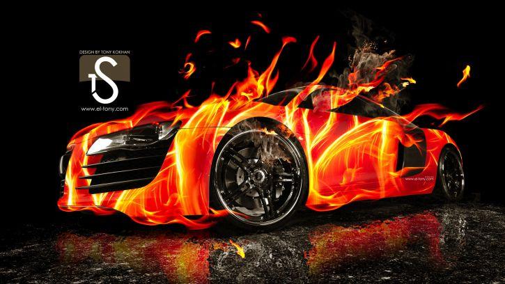 Audi w ogniu!