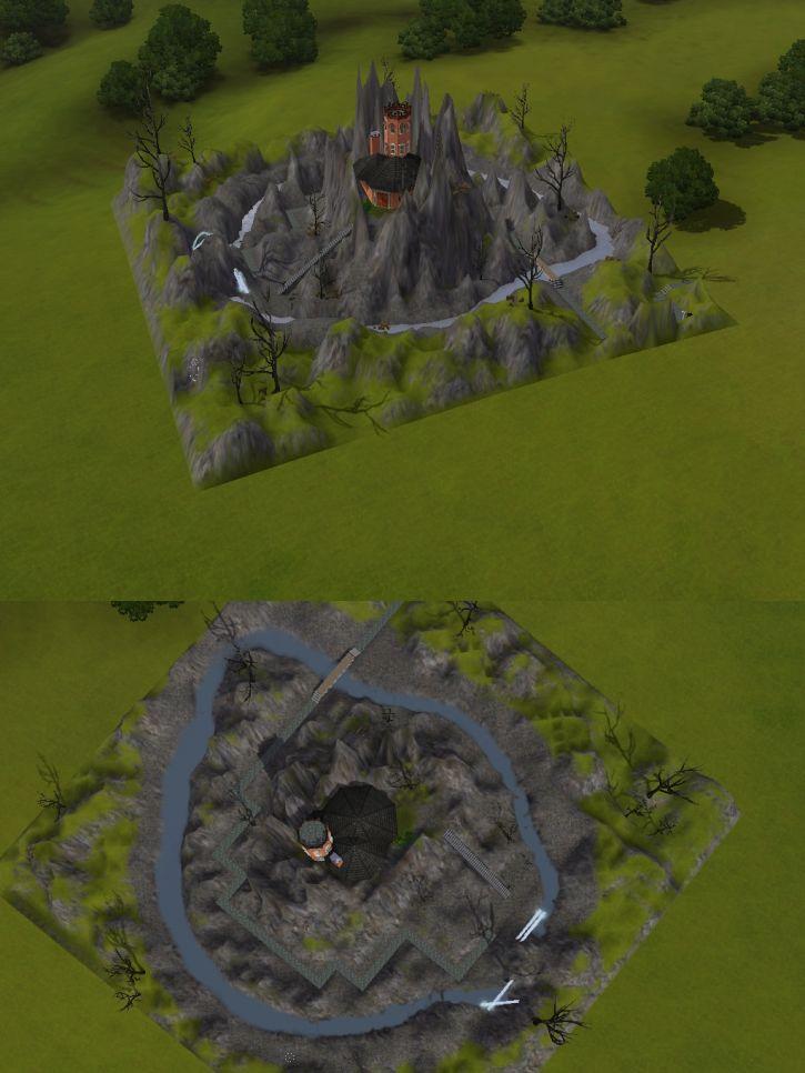 Mój zameczek w Simsach
