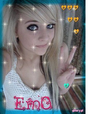 emo blond