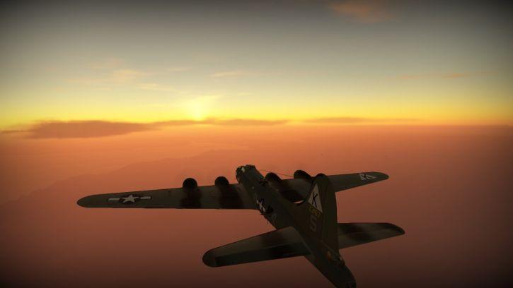 Piękny zachód Słońca...