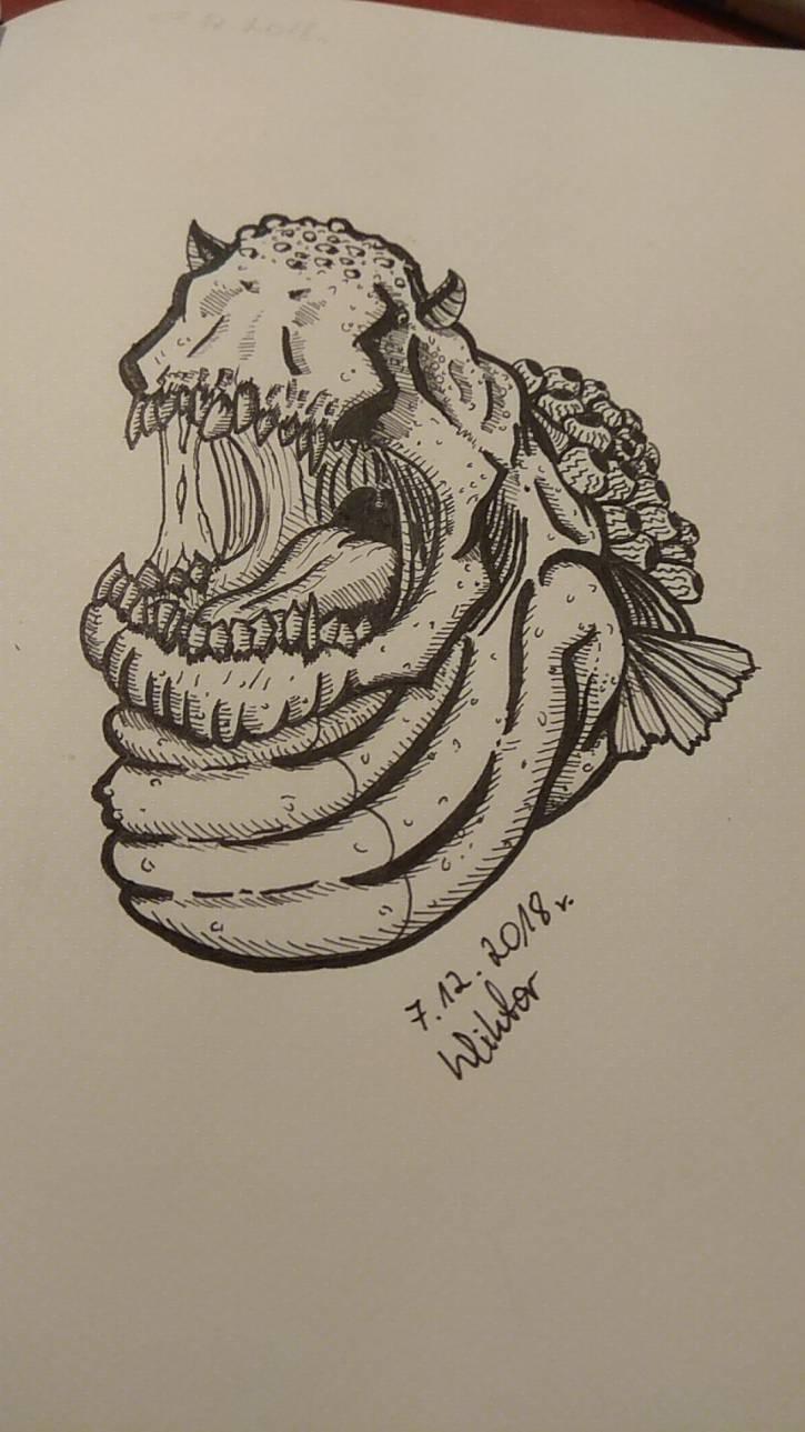 Sea momster - popiersie