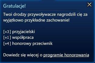 Tak bardzo honor :D