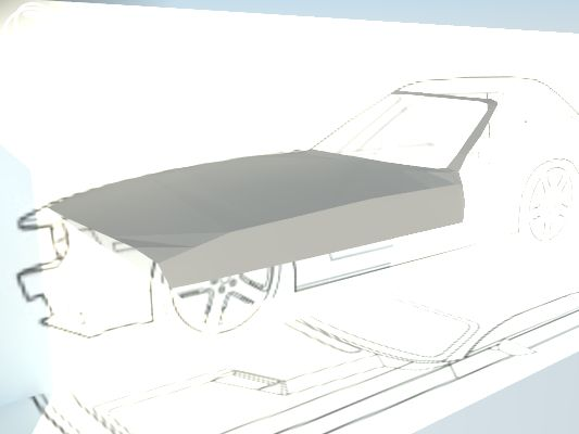 Prace nad samochodem w Sketchupie.
