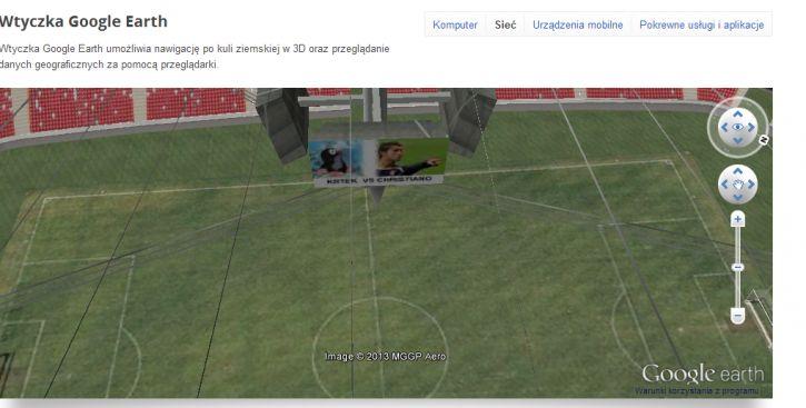 Stadion narodowy w Google Earth O_o