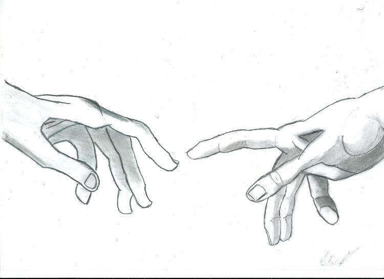 Stworzenie Adama (ręce)