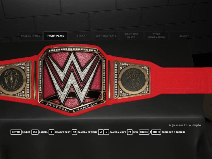 Roman Reigns Custom Universal Championship