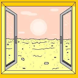 Pustynia za oknem