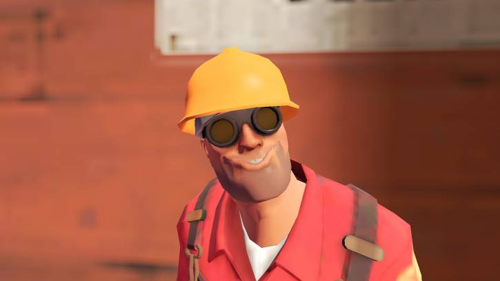 inżynier z dziwnym uśmiechem
