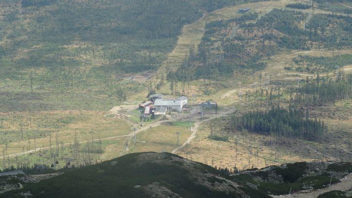 widok z góry na słowacji zrobiony przezemnię