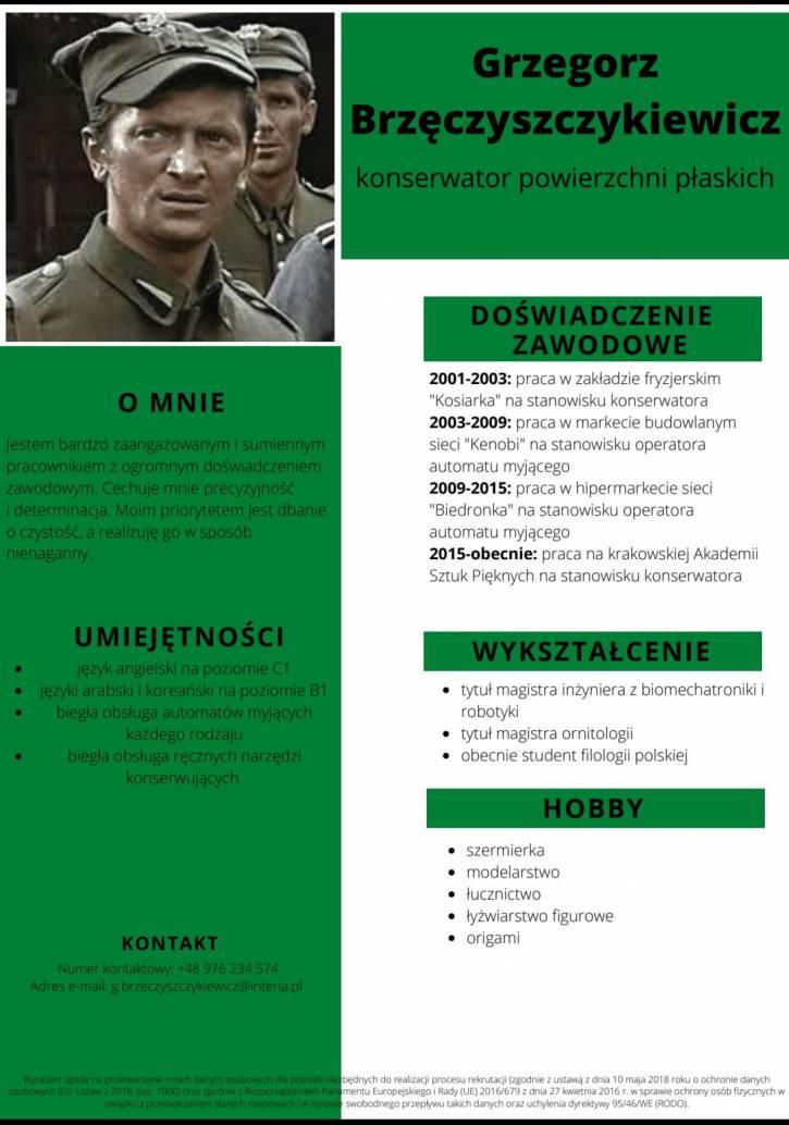 CV Gzregorza Brzęczyszczykiewicza