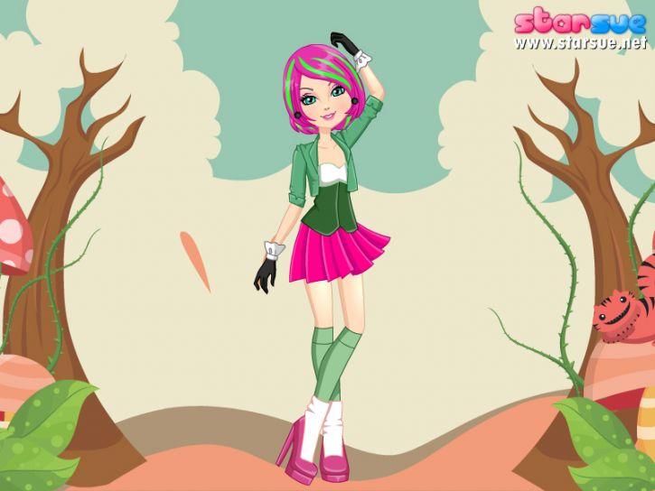 różowo-zielona